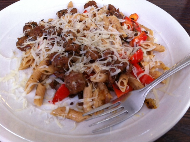 pasta and beef dish